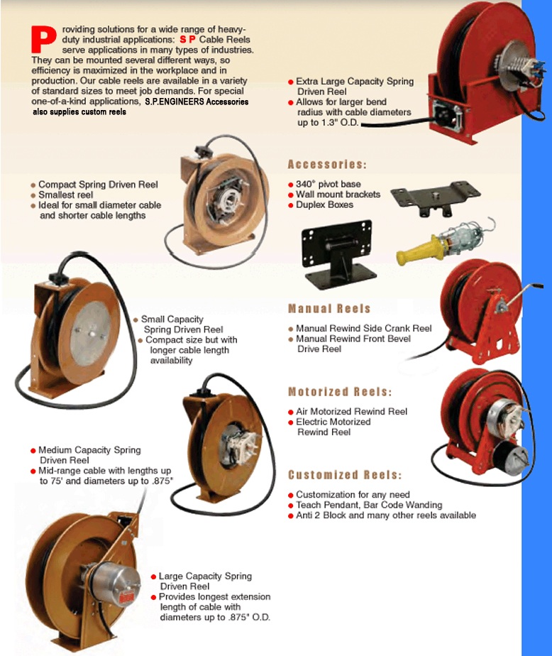 Electric Cord Reels, Portable Electric Cord Reels, Cable